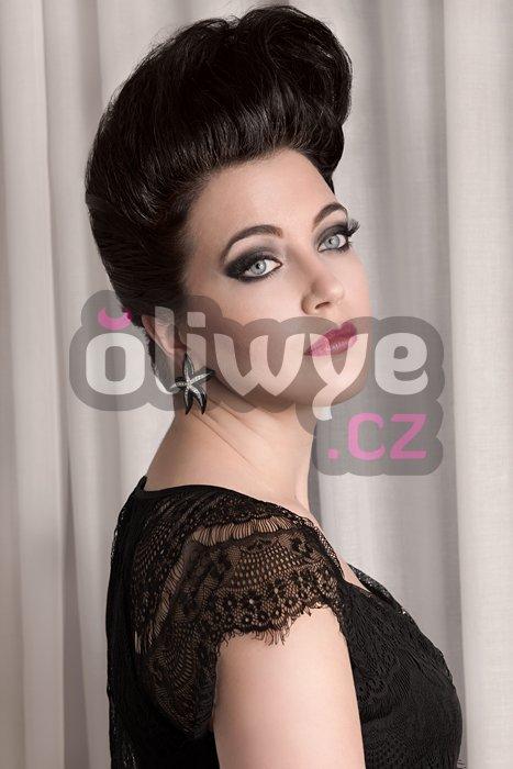 Vlasy clip in on remy #1b přírodní černá černohnědá 50cm 160g extra velká gramáž