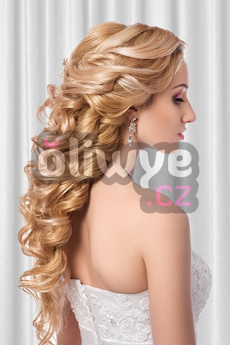 Vlasy clip in on remy #16 blond 40cm 120g