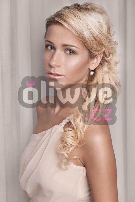 Vlasy clip in on remy #613 světlá blond 40cm 120g